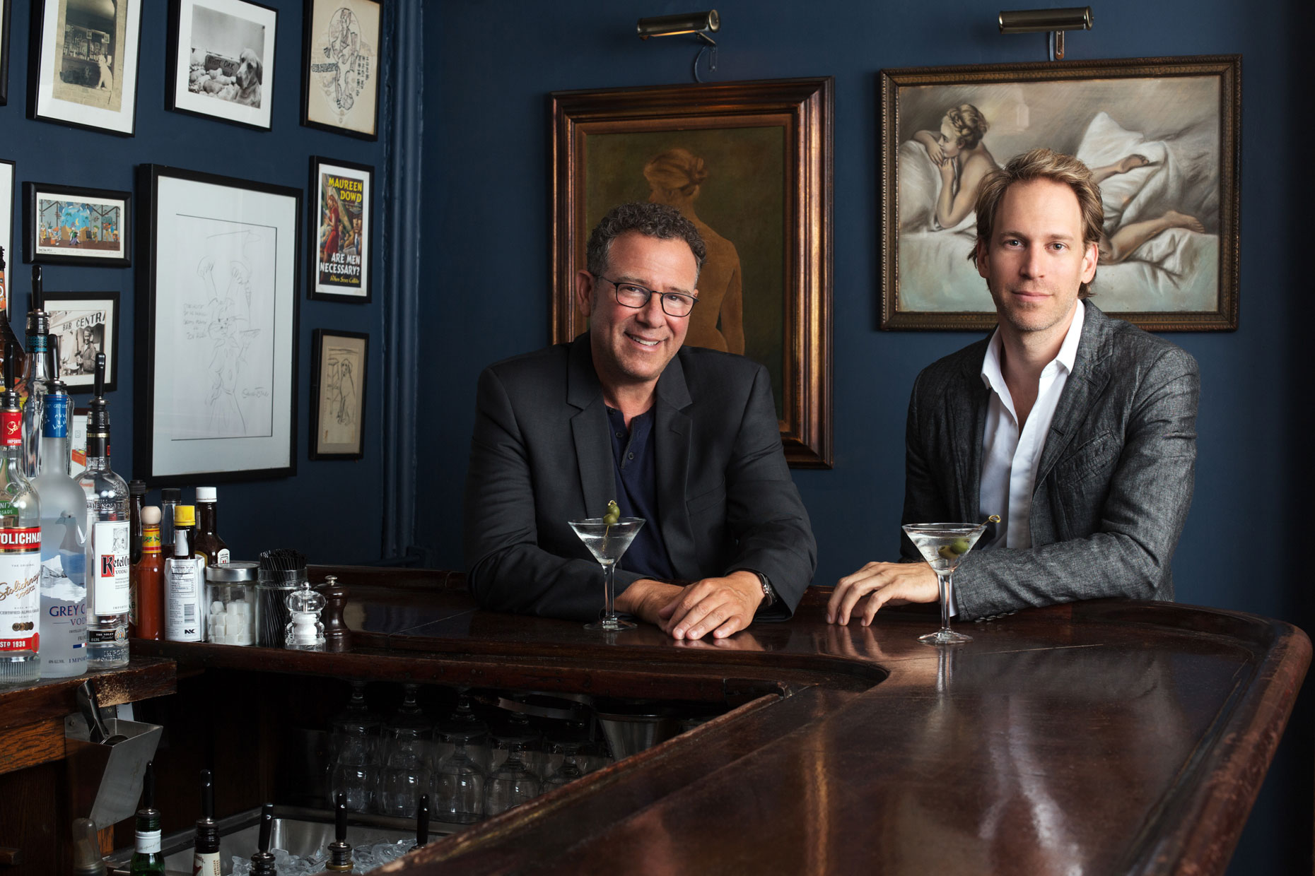 Broadway director Michael Greif and set designer David Korins meeting in NYC, by Allison Michael Orenstein